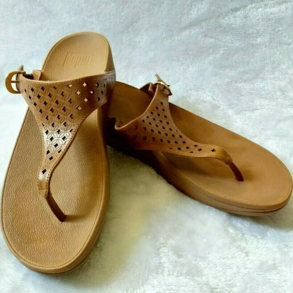 484627714 Fitflop T strap Thong Sandals Brown US 9 EUR 41